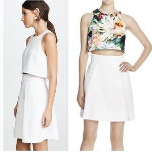 Black Halo Sanibel White Skirt